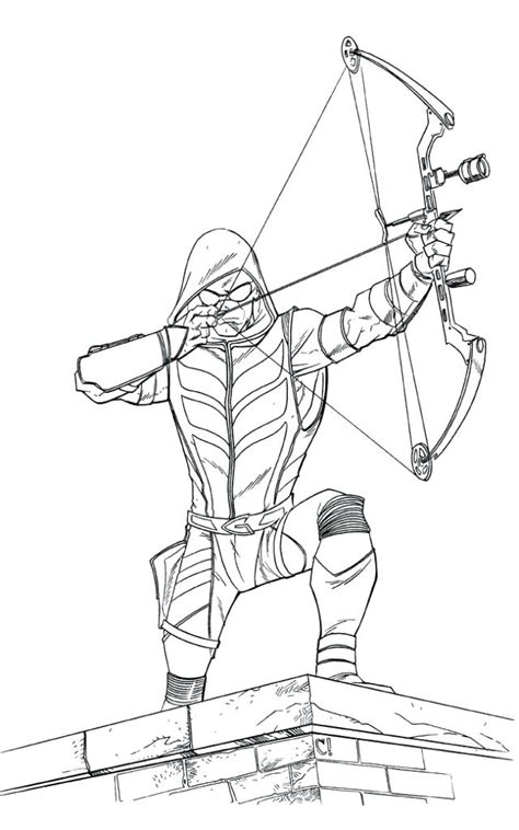 green arrow printable coloring pages  getcoloringscom  printable colorings pages