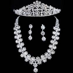 jewelry for bridesmaids allens bridal gorgeous wedding bridal jewelry set earrings headpiece and necklace with