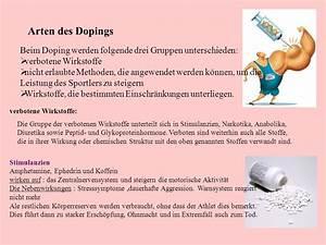 Arten Von Stoffen : unter doping versteht man gemeinhin die einnahme von unerlaubten substanzen oder die nutzung von ~ Frokenaadalensverden.com Haus und Dekorationen