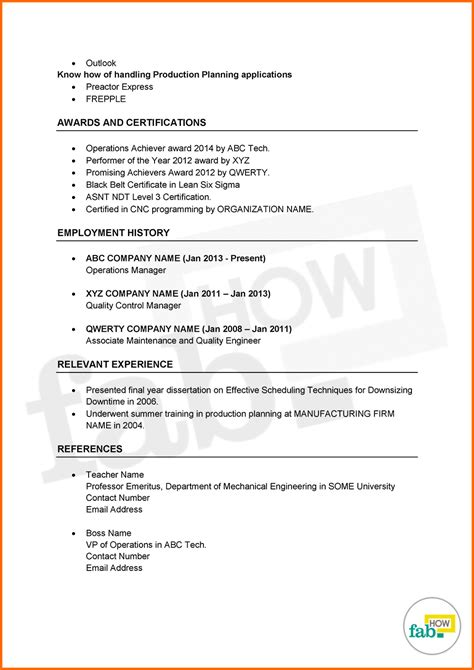 Step By Step Resume by Steps Writing Chronological Resume