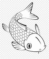 Pond Fish Clipart Coloring Pinclipart sketch template