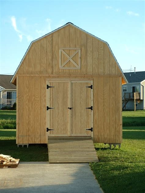 12x16 Gambrel Storage Shed Plans Free by Barn Style Shed Plans 12x16 How To Build A Shed R