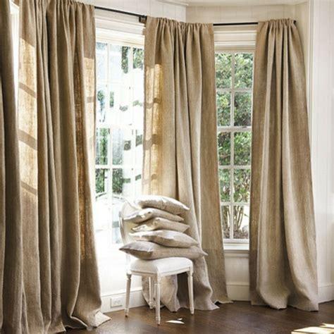 rideaux pour grandes fenetres les rideaux en naturel simbolisent le confort et l 233 l 233 gance 224 la maison archzine fr