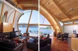wood interior homes organic wood wave floating home design