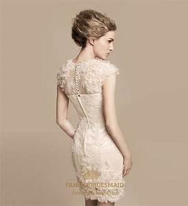 short ivory lace wedding dress tea length wedding dresses With short lace wedding dress