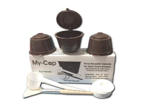 nespresso coffee pods amazon my cap 39 s 3 reusable refillable capsules for nescafé dolce