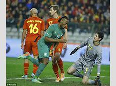 Belgium 22 Ivory Coast Marouane Fellaini strikes first