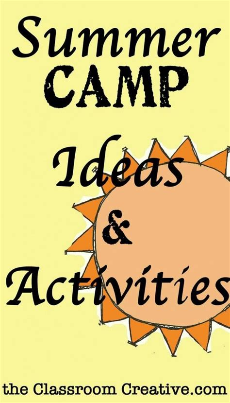 100 ideas to try about summer day camp ideas summer 444 | 3f58bc82c66b3fb81f7cea58e319e52b summer camp activities fun activities