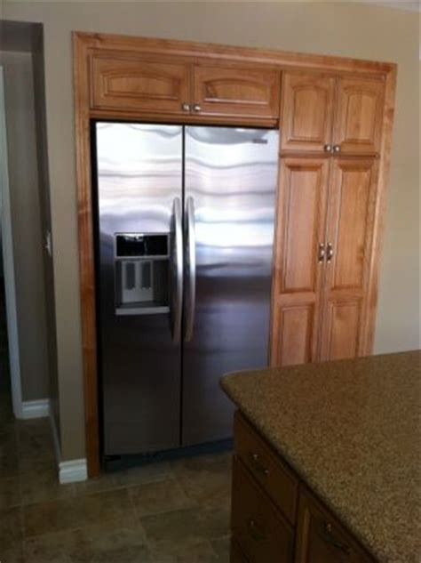 Wall recessed fridge   Kitchen remodel ideas   Pinterest