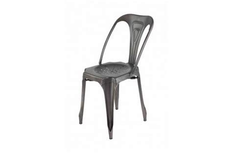 chaise aluminium pas cher chaise industrielle métal kirk chaise design pas cher