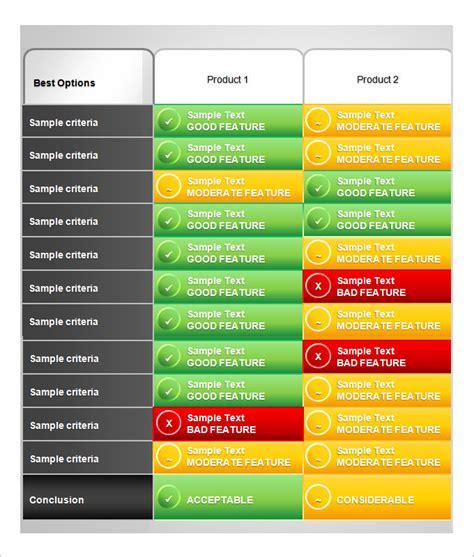 product comparison template 32 comparison chart templates word excel pdf free premium templates