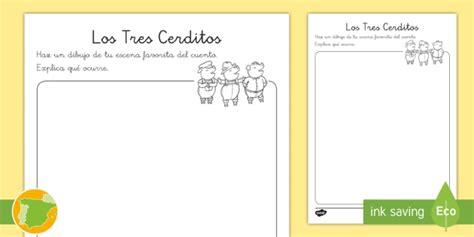 * New * Ficha De Resumen Los Tres Cerditos  Cuentos, Tradicionales
