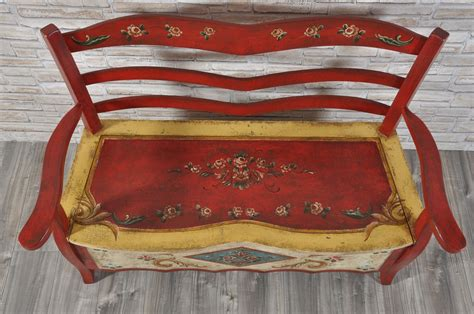 Panca-divanetto Decorata In Stile Classico Barocco