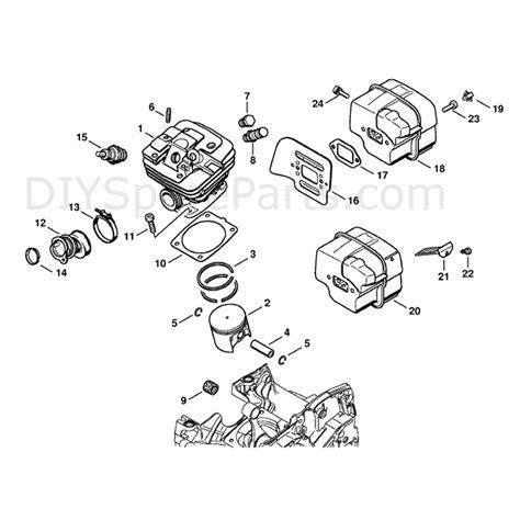 Stihl Ms 341 Chainsaw Ms341 Z Parts Diagram Cylinder