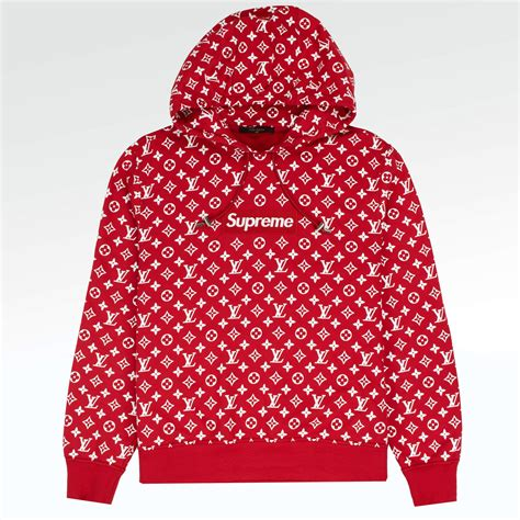 supreme  louis vuitton monogram box logo hoodie crepslocker