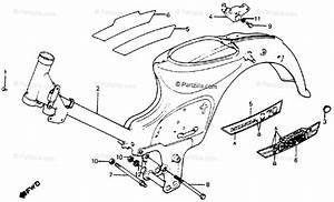 Honda Motorcycle 1981 Oem Parts Diagram For Frame