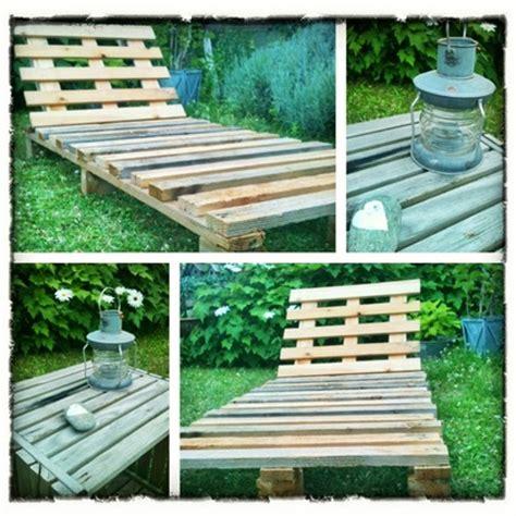 Chaise Longue Fabriqué Avec De La Palette De 5 Projets En Palette Pour Le Jardin