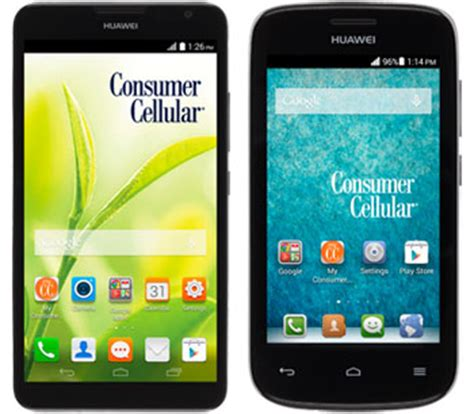 aarp smartphone consumer cellular huawei ascend mate 2 and vision 2