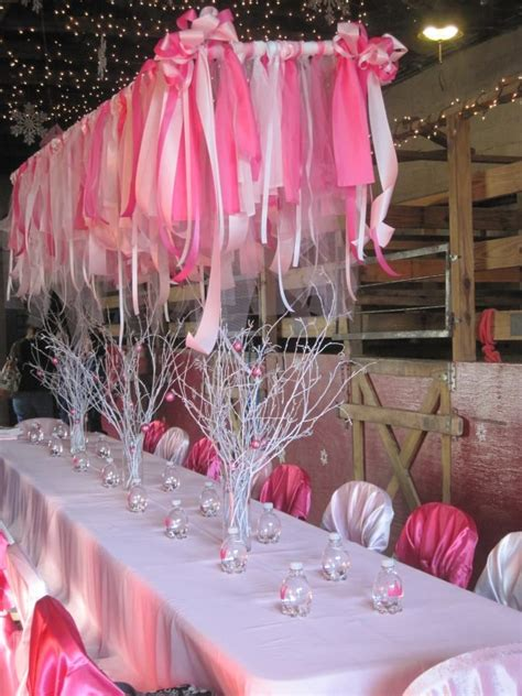 Pink Hanging Decorations - the pink streamers hanging www