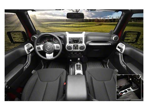 rugged ridge wrangler interior trim accent kit brushed