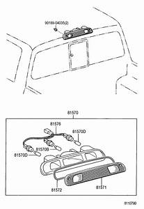 2003 Toyota Tundra Socket  U0026 Wire  Center Stop Lamp  Socket