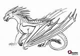 Wings Fire Nightwing Coloring Dragons Guide Pyrrhia Dragon Printable Hybrid Base sketch template
