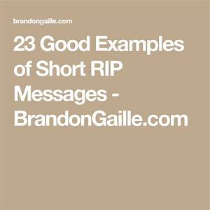 23 Good Example... Good Short Rip Quotes