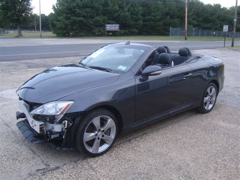 lexus 2010 for sale wrecked 2010 lexus is is350 convertible rebuildable for sale
