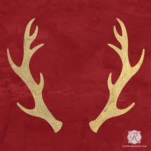 reindeer antlers holiday craft stencils diy christmas decorations royal design studio stencils