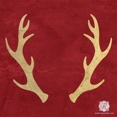 reindeer antlers holiday craft stencils diy christmas