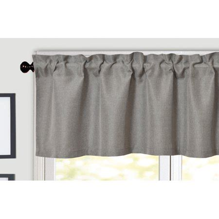 Solid Gray Valance by Aiking Home Solid Rod Pocket Valance For Window 55 By 16