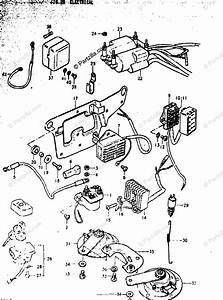 Suzuki Motorcycle 1979 Oem Parts Diagram For Electrical