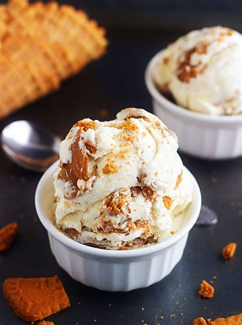 homemade biscoff ice cream life   lofthouse