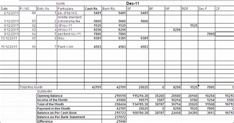 excel bank reconciliation template exceltemplates