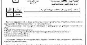 L U2019examen De Comp U00e9tence Professionnelle 2015 Pour La
