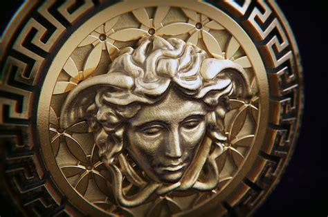 3D printable model Versace Medusa pendant L | CGTrader