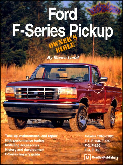motor auto repair manual 1996 ford f series seat position control ford owners bible book ludel truck f series pickup manual service info shop ebay