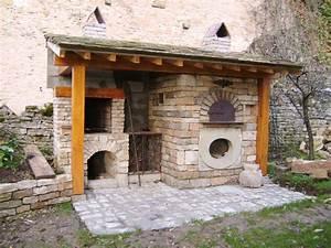 exceptionnel barbecue en brique fait maison 8 pierre With barbecue en pierre fait maison