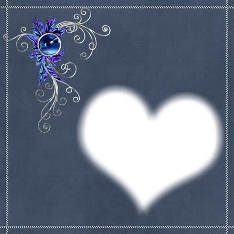 photo montage cadre coeur pixiz