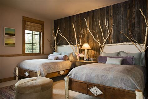 Twin Rustic Country Bedroom Decorating Ideas