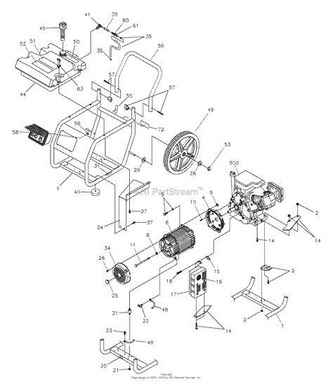 briggs and stratton power products 1646 4 5 550 watt wheelhouse parts diagram for unit