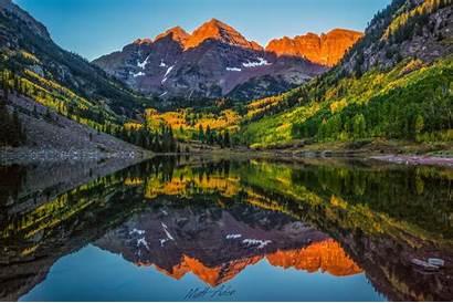Maroon Bells Colorado Wallpapers Peak Nature Background