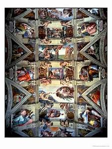 Sistine Chapel Ceiling and Lunettes, 1508-12 Giclee Print ...