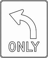 Coloring Traffic Signs Outline Turn Left Safety Road Clipart Etc Printable Usf Edu Construction Sheets Popular Highway Blank Coloringhome Lane sketch template