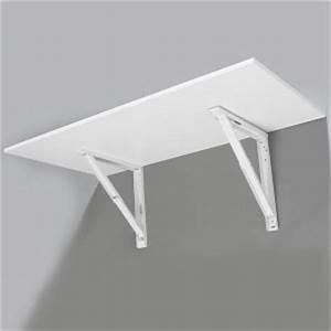 Support Pour Table Rabattable : support de table rabattable blanc noir gris ou inox ~ Melissatoandfro.com Idées de Décoration