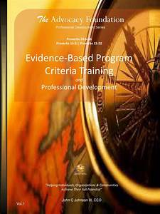 Evidence-Based Programming - Criteria Training and ...