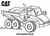 Coloring Caterpillar Trucks Machine Truck Printables Articulated Birthday sketch template