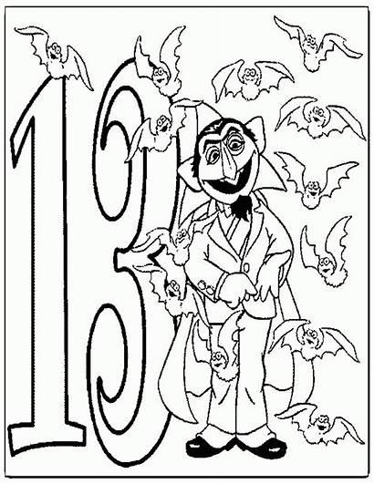 Coloring Sesame Street Count Number Peep Bo