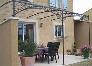pergola en fer forge pour terrasse atlubcom With auvent terrasse fer forge