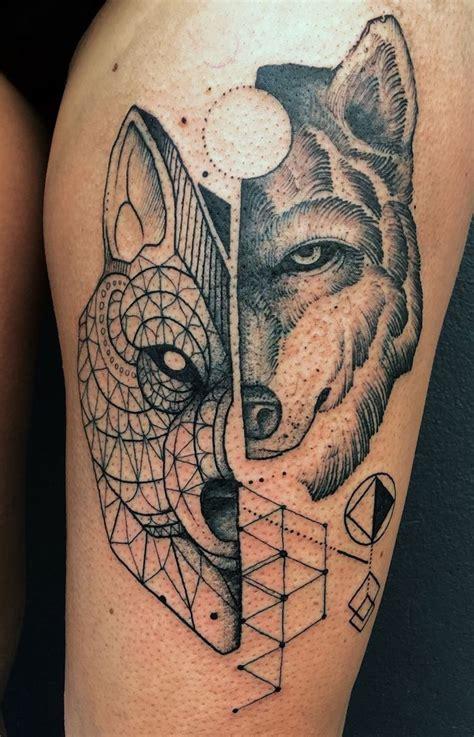 tatouage loup homme avant bras